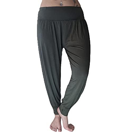 Women's Plain Khaki Harem Alibaba Trousers, Sizes 12 to 18