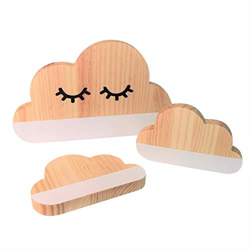 Like Elephants - Decoración para Habitación, Nubes de Madera Estilo Nórdico.