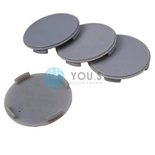 1 x Nabenkappe Nabendeckel Felgendeckel Gewölbt Grau Aussen 64,0 mm Innen 61,0 mm ATS