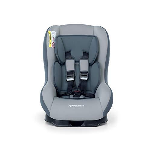Foppapedretti Go! Evolution, Seggiolino auto Gruppo 0/1 (0-18 Kg) per Bambini dalla Nascita Fino a 4 Anni Circa, Carbon