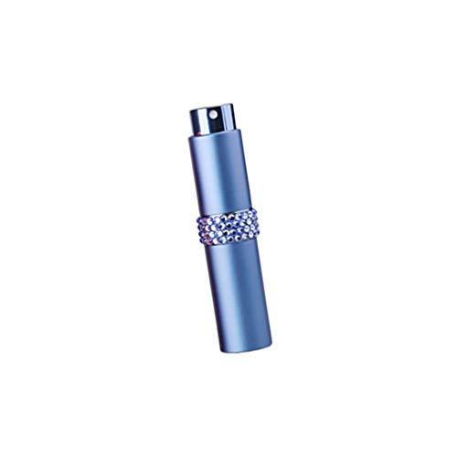 Mobestech Glazen Spuitflessen Reizen Diamantinleg Lege Verstuiver Pomp Fles Monster Subverpakking Spuitbuis Voor Lotion Parfums Etherische Oliën Vloeistoffen Zeep 8Ml (Blauw)