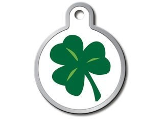 Holiday Collection Personalized Custom Engraved Pet ID Tags! (St. Patrick's Day Shamrock)