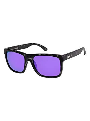 Quiksilver Charger-Gafas De Sol para Hombre, Brown/Black/Purple-Combo, 1Sz