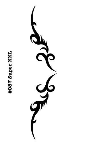 UNLIMITED STENCILS Super XXL Body Painting/Tattoo Schablone/Stencil Steissbeintattoo Arschgeweih Tribal 87 M