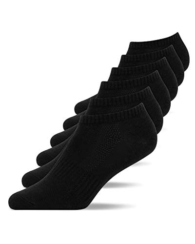 Snocks Sneaker Socken Herren Schwarz Größe 43-46 6x Paar Sneaker Socken Damen Socken Herren 43-46 Sneaker Füßlinge Herren Sneakersocken Herren 43-46