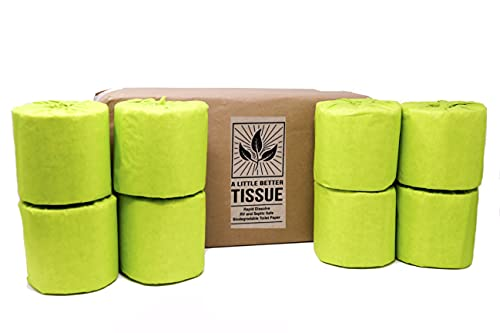 Papel de Baño - 100% Recycled Biodegradable Toilet Paper Individually Wrapped for Camping - Quick Dissolve Toilet Paper - RV Camper Safe - Packaged in Paper, Not Plastic [2 ply, 500 sheet, 8 Count]