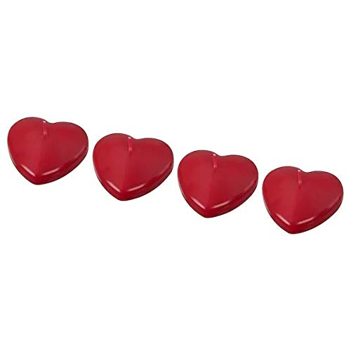 Finchley Unscented floating candle, heart-shaped red +(Pen Free)