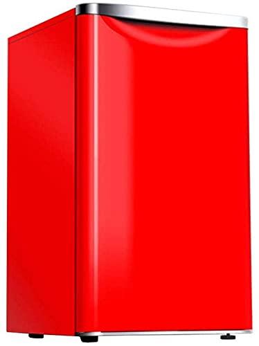 FCXBQ 72L Independiente Debajo del mostrador Refrigerador Descongelación de una tecla Temperatura Ajustable 8L Congelador Suave 64L Cámara fría Mini de bajo Consumo de bajo Ruido 70cm Rojo