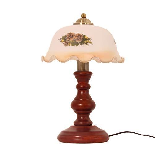 Tafellamp van massief hout in landelijke stijl, Europese landelijke stijl, creatieve decoratieve lamp, oogbescherming, werkkamer verkrijgbaar