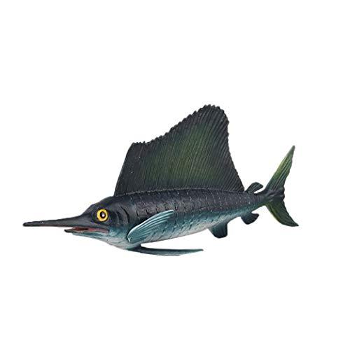 Yoyakie Schwertfisch-Aquarium Dekor Ozean Bildung Tier Figur Modell Kind-Kind-Spielzeug