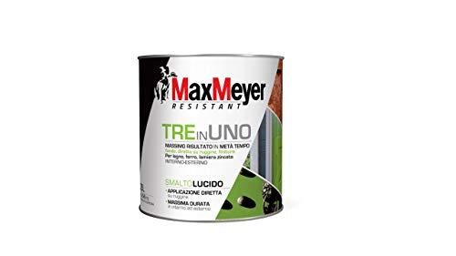 MaxMeyer 164952C400008 Smalto Lucido all'Acqua per Interno e Externo, Nero, 0,5 L