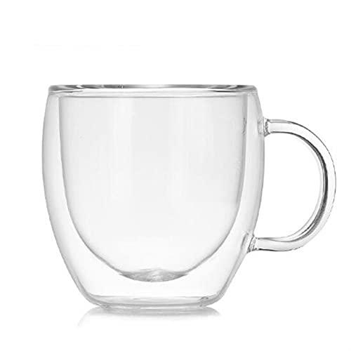 ERTERT 150ml de Doble Pared aislada de Cristal Espresso Taza de café Resistente al Calor Hecho a Mano Taza de Bebida de té Transparente Taza de café Taza Taza (Capacity : 150ml)