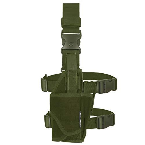 MGFLASHFORCE Drop Leg Holster for Pistols, Adjustable Tactical Thigh Gun Leg Holster Right Handed (Green)
