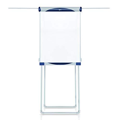 Flipchart Baracuda | Vierbein-Stativ mit Seitenarmen | Beschreibbar & magnethaftend | Stufenlos höhenverstellbar | mit Ablageschale für Stifte (68 x 100 cm)