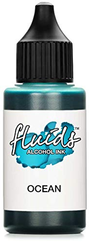 30ml Fluids Alcohol Ink BLUE OCEAN, Tinta al alcohol para Fluid Art y Resin Art, azul