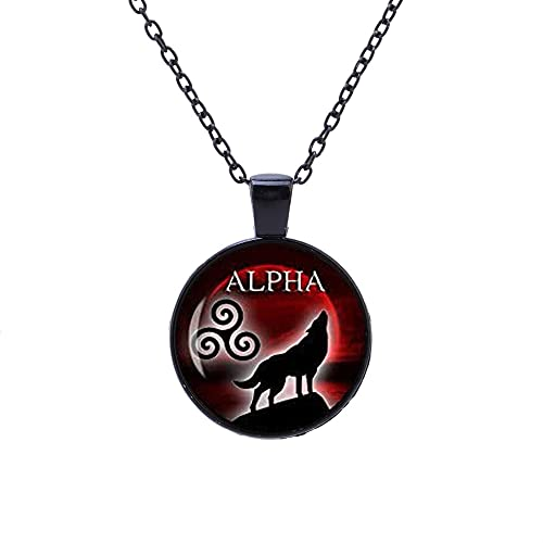 Jewelry tycoonAlpha Necklace teen wolf necklace teen wolf jewelry I am the alpha necklace wolf jewelry blood full moon necklace celtic Triskele jewelry