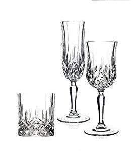 Paganohome Rcr Opera Set Vetro, 12 Bicchieri Acqua/wisky, 12 Calice Vino 12 Calice Spumante, 36 Pezzi Made in Italy