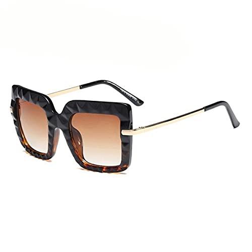 Astemdhj Gafas de Sol Sunglasses Gafas De Sol Cuadradas para Mujer, Hombre, De Gran Tamaño, Retro, De Lujo, De Diseñador, Gafas De Sol para Mujer Y Hombre, 6Anti-UV