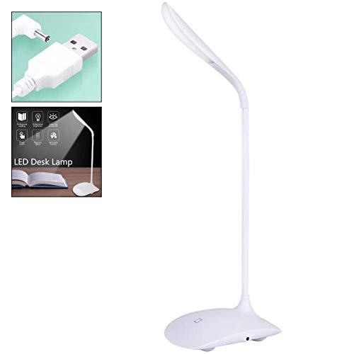 XXLYY LED Schreibtischlampe USB Touch Control Faltbarer Augenschutz Dimmbarer Tisch Nachtlicht 14 LED Bürolampe Leselampe für Schreibtisch, Bett, Regale, Taschen