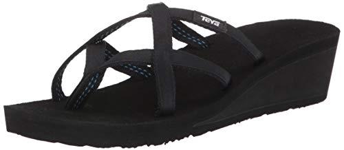 Teva Women's W Mush Mandalyn Wedge Ola 2 Flip-Flop, Black, 10 M US