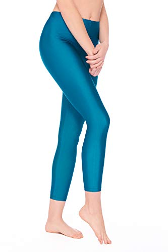 BALI Lingerie - Damen Leggings Glanz Leggins - 4892 (M, Petrol)