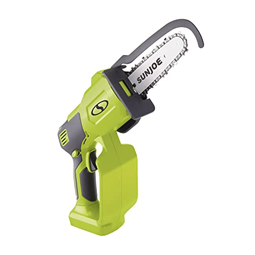 Sun Joe 24V-HCS-CT 24-Volt iON+ Cordless Handled Pruning Saw, 5-Inch, Tool Only, Green