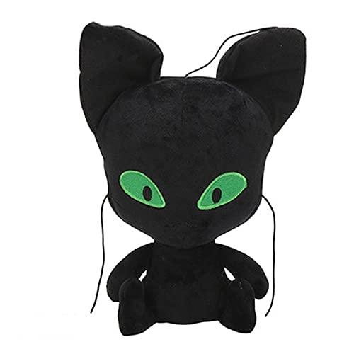 Vbtsqp 24/30 cm Red Black Ladybug Femenino Gato Negro Ladybug Girl Peluche Muñeca Peluche Toy Masculino y Femenino Día de San Valentín Regalo de cumpleaños del niño