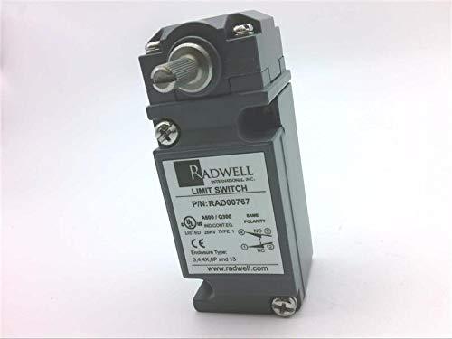 RADWELL RAD00767 1/2NPT, Limit Switch - Heavy Duty, MAINTAINED, Standard Body, SPDT, Rotary Head