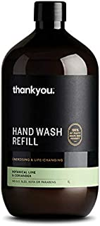 Thankyou Hand Wash Refill Botanical Lime and Coriander, 1L (more options available)