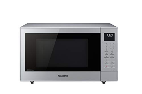 Panasonic Microondas NN-CT57 (1000 W, con parrilla y aire caliente, inverter microondas, 27 litros, baja profundidad), color plateado
