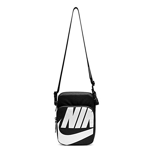 Nike Unisex– Erwachsene Heritage Smit - 2.0 GFX Brustbeutel, Black/Black/White, One Size