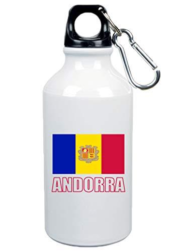 Typolitografie Ghisleri drinkfles Andorra vlag 500 ml aluminium 4