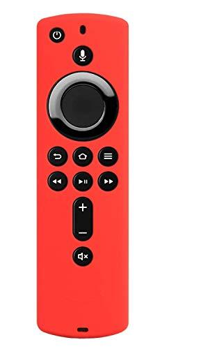 Ducomi - Funda con mando a distancia para Fire TV Stick 4K/Fire TV (3ª generación), compatible con mando a distancia Alexa de segunda generación – Funda protectora de silicona (Red)