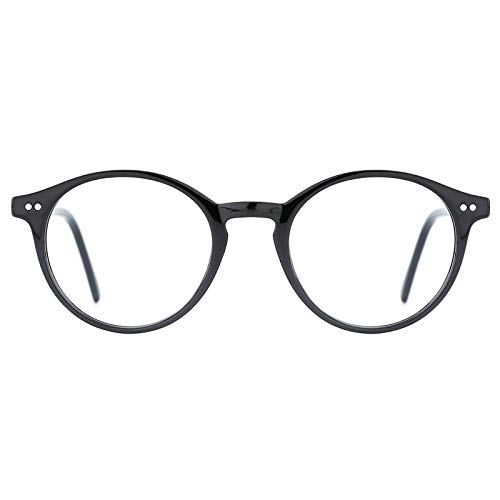 TIJN Blue Light Blocking Glasses Computer PC Glasses Round Eyeglasses Frame...