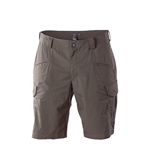 5.11 Tactical Men's Stryke 11-Inch Inseam Military Shorts, Flex-Tac Ripstop Fabric, Style 73327 Tundra, 36