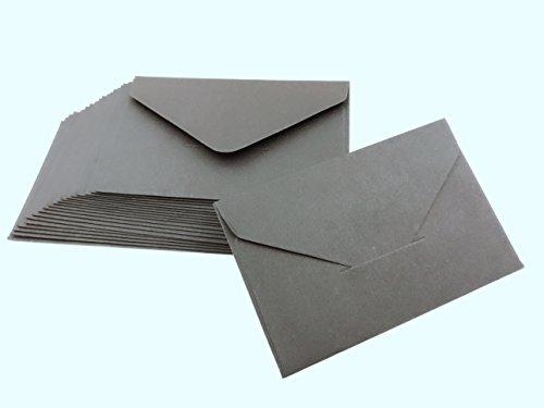 50 Pieces Blank Kraft Paper Envelope from (black)