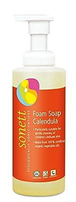Sonett Organic Hand Soap Citrus, Lavender, Sensitive, Calendula, Rose and Foam Soap, 1 Count and 6 Count (Foam soap for kids, 1 Count)
