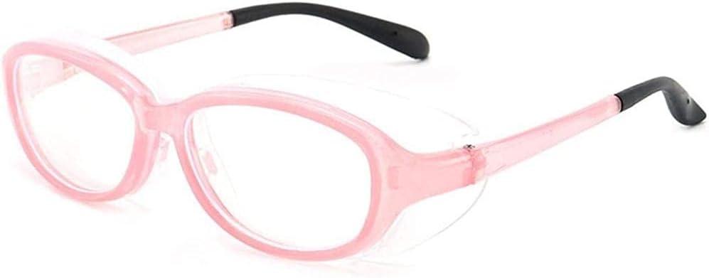 JWCN Gafas de Seguridad Anti-Polen para niños Vidrios de Polen Gafas Gafas de heno Fiebre Gafas Gafas para niños Gafas Protectoras con Luces de protección contra los Ojos Anti-Azul-Rosado Uptodate