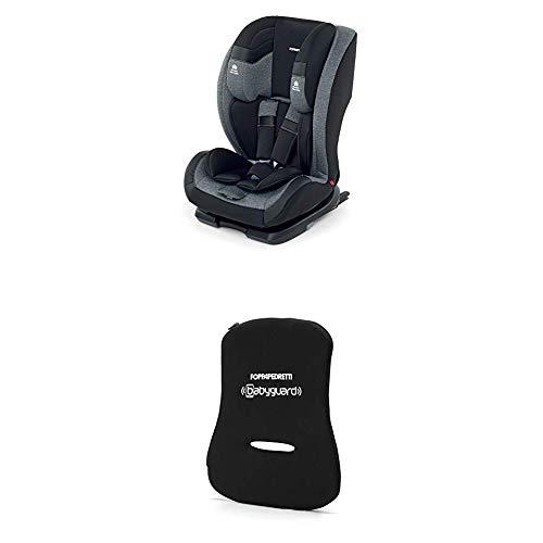 Foppapedretti Re-Klino Fix Seggiolino Auto, Gruppo 1/2/3 (9-36 Kg), per Bambini da 9 Mesi a 12 Anni, Nero (Carbon) + Dispositivo Antiabbandono,...