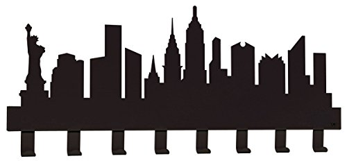 NEW YORK perchero, color negro