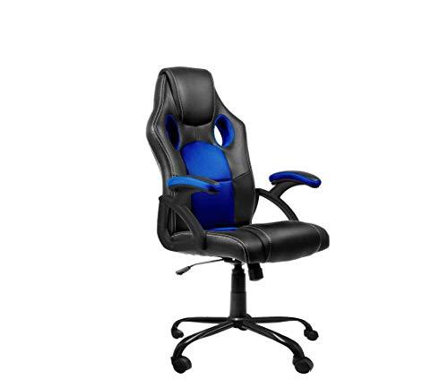 Dormidán- Silla Gaming, Escritorio, regulación en Altura, Racing SR-1 (Azul)
