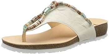 Think! Women s Flip Flop Sandals Flip Flops  White Ivory Combi 94  10 US