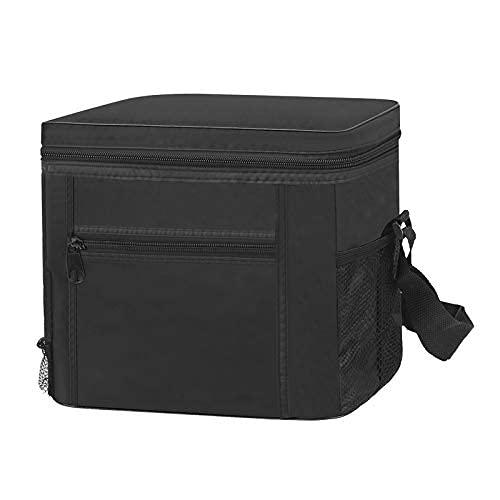 Anjing Comida caliente térmica aislada entrega bolsas caliente plegable para llevar negro al aire libre 11l negro