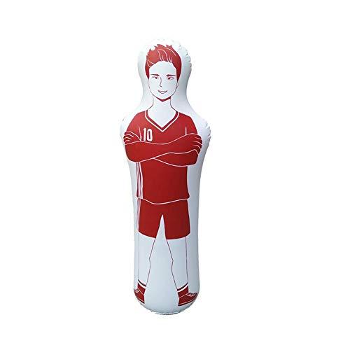 hinffinity 160 cm Fußballtrainings-Schnuller, aufblasbar, Fußball-Training, Torwart-Ständer, Tumbler für Erwachsene und Kinder rot