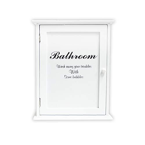DRULINE Medizinschrank Bathroom Hausapotheke Apothekerschrank Schrank Arzneischrank Erste Hilfe Schrank aus Holz Medikamente Verbandszeug  10019095   LHC002   L x B x H 24 x 13 x 30   Weiß