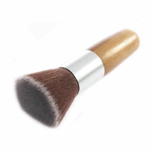 Brussels08 1 pc Pinceau de maquillage à manche en bois pour fond de teint, blush visage fond de teint, pinceau pour fond de teint, poudre de crème liquide, cosmétiques minéraux