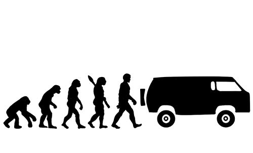 EVOLUCION CAMPER .- NEGRO BRILLO -. 29x10cms. ( MANB3447.A )