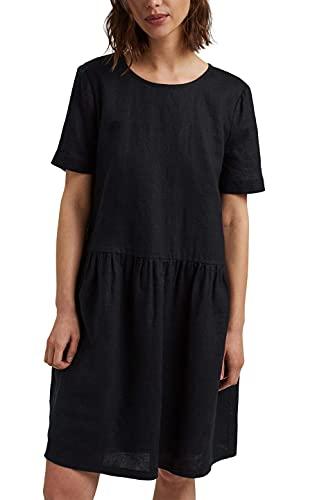 ESPRIT Damen 051EE1E313 Kleid, 001/BLACK, 36