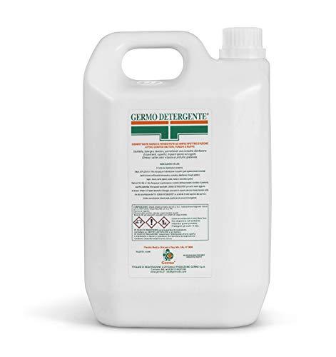 Germo Detergente Disinfettante per Ambienti, Rapido e Persistente ad Ampio Spettro d'Azione, Attivo contro Batteri Gram-Positivi, Gram-Negativi e Funghi, Tanica da 3 Litri