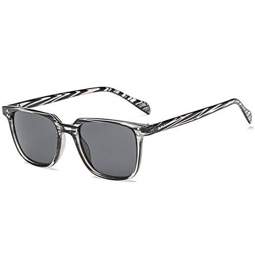 Gafas de Sol Sunglasses Gafas De Sol Cuadradas De Diseñador De Marca Hombre Gafas De Sol De Conducción Retro Vintage para Hombres Gafas De Sol Masculinas Uv400 Gris